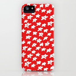 Stars on red background iPhone Case