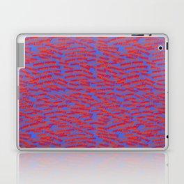 red on blue money Laptop & iPad Skin