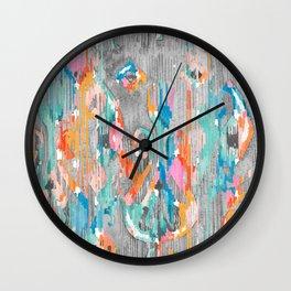 rainy day balinese ikat Wall Clock