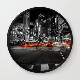 Shibuya Blur Wall Clock