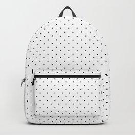 Minimal Black Polka Dots Backpack
