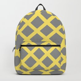 Grey and Yellow Grill Backpack