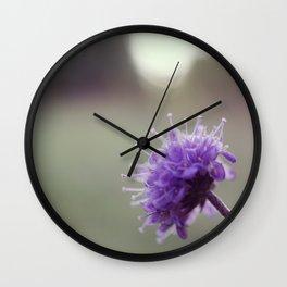 Vintage little purple flower Wall Clock