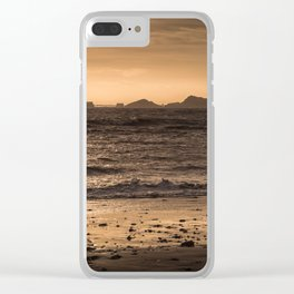 Swansea bay and Mumbles lighthouse Clear iPhone Case