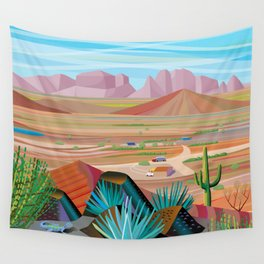 La Pimeria, West Phoenix Wall Tapestry