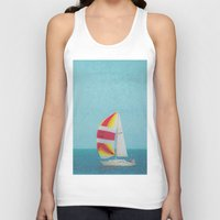 sailboat Tank Tops featuring Bright Sailboat by Pure Nature Photos