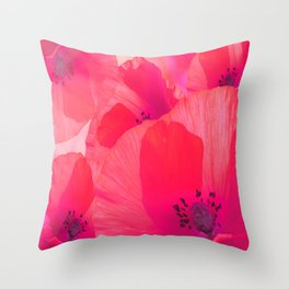 Red Poppies #decor #society6 #buyart Throw Pillow