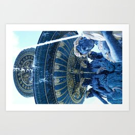 Fontaines de la Concorde 3 Art Print