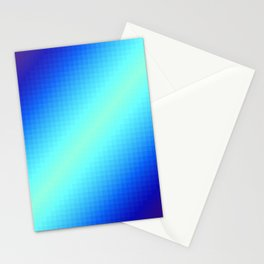 Blue Gradient Squares Stationery Cards