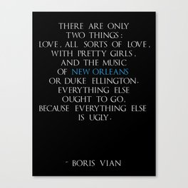 Boris Vian Canvas Print