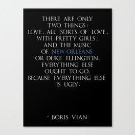 Boris Vian Canvas Print
