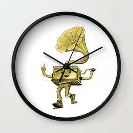 gramaphone Wall Clock