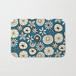 sumer flowers blue Bath Mat
