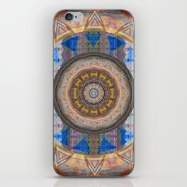 Window of Soul Evolution Sacred Geometry Painted Mandala iPhone Skin