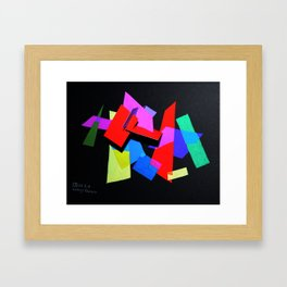 Colored Layers Framed Art Print