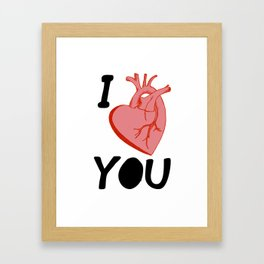 I Love You (white) Framed Art Print