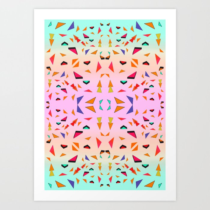 Triangle Tropical Confetti  Art Print