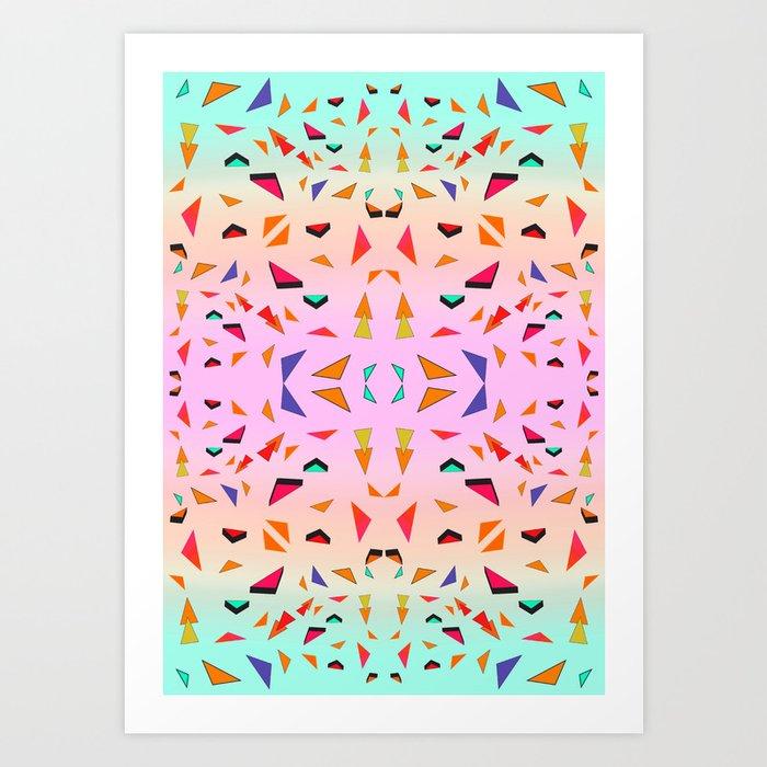 Triangle Tropical Confetti  Art Print