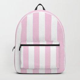 Pastel pink white modern geometric stripes Backpack