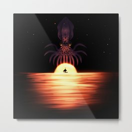 Kraken the Sky Metal Print
