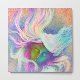 Rainbow Girl | Colourful Lady | Painting | Poster Metal Print