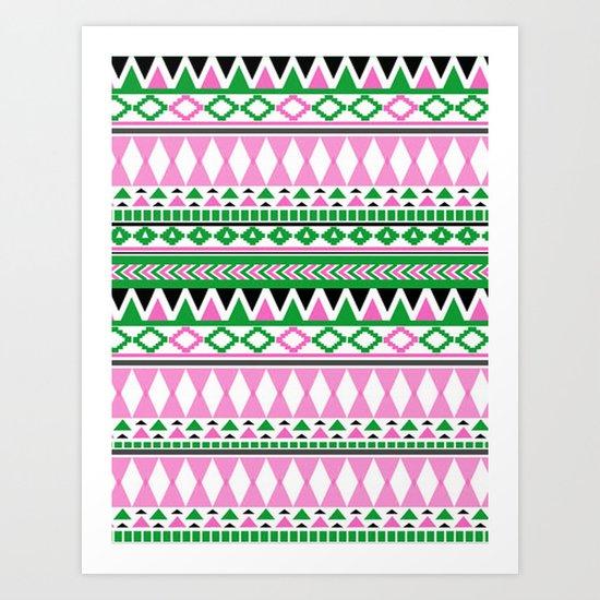 Tribal Pattern 07 Art Print
