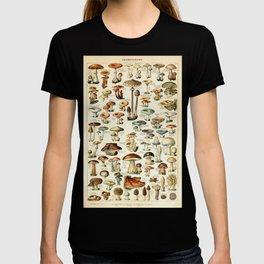 Vintage Mushroom & Fungi Chart by Adolphe Millot T-shirt