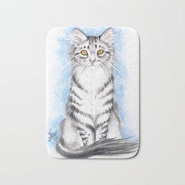Silver Tabby Cat Bath Mat