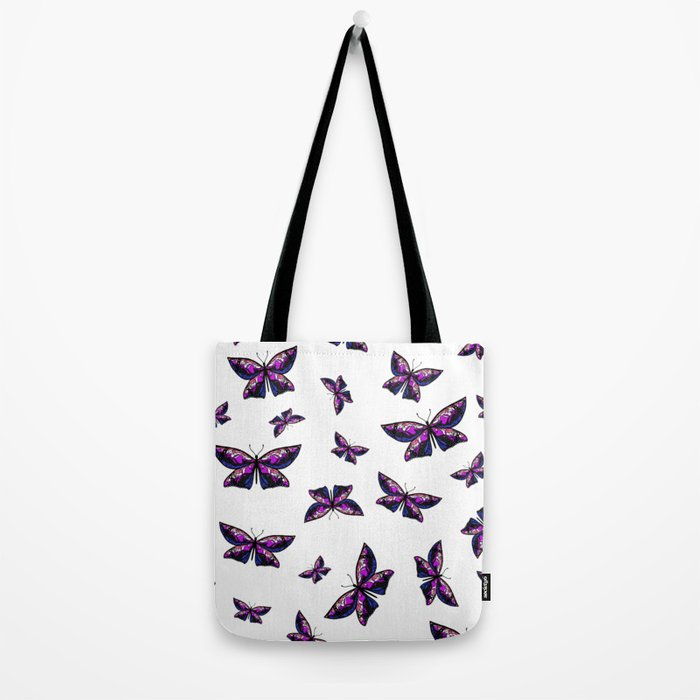 Fly With Pride: Genderfluid Flag Butterfly Tote Bag