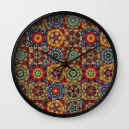 Funky led lights patchwork Wall Clock