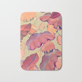smooth big leaves Bath Mat