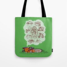 The Dreams of the Wonder Chainsaw Tote Bag