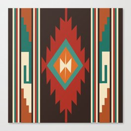 American Native Pattern No. 32 Canvas Print