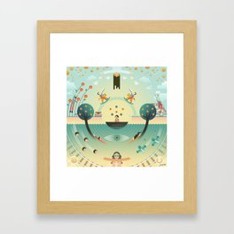 LSD (Lucy In The Sky With Diamond) Framed Art Print
