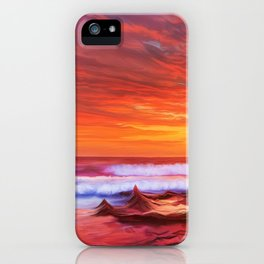 Evening flame iPhone Case