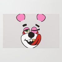 miley cyrus Area & Throw Rugs featuring Twerk Bear Miley Cyrus by Alan Lima