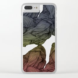 Colored lines Clear iPhone Case