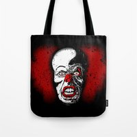 pennywise Tote Bags featuring Pennywise by Beery Method