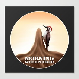 Morning Woodpecker Canvas Print