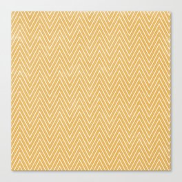 Mustard Chevron Canvas Print