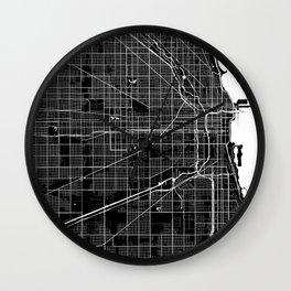Chicago - Minimalist City Map Wall Clock