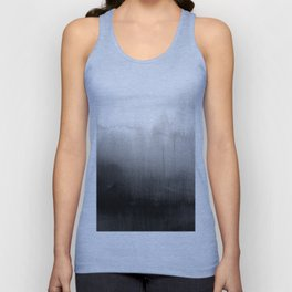 Modern Black and White Watercolor Gradient Unisex Tanktop