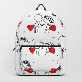 Give love . White . Backpack