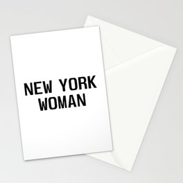New york woman Stationery Cards