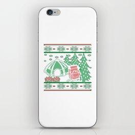 Camping Christmas iPhone Skin
