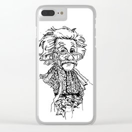 Sir Albert Einstein Clear iPhone Case