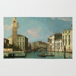 Venice - Entrance to the Cannaregio by Canaletto Rug