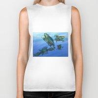 ninja turtles Biker Tanks featuring Ninja Turtles by MrDenmac