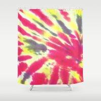tie dye Shower Curtains featuring Tie Dye by vidixoxo