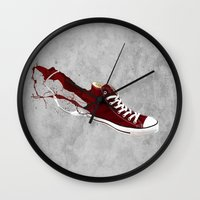 converse Wall Clocks featuring Converse by Gayle Storm